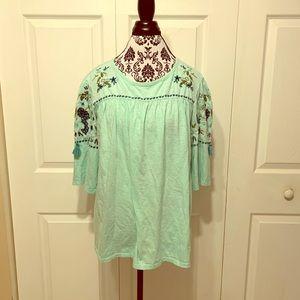 St. John's Bay 3/4 sleeves top XL